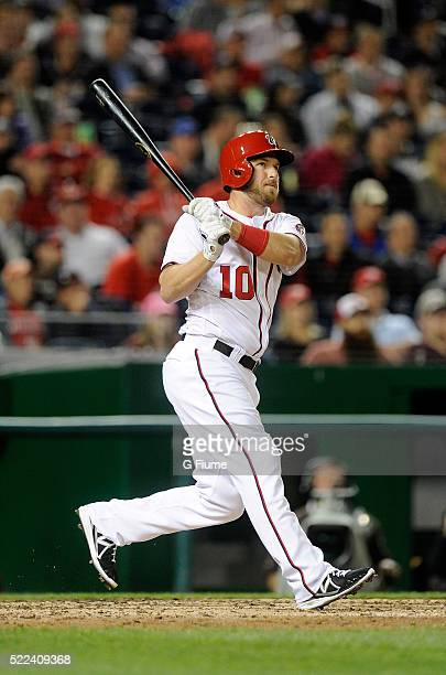 Stephen Drew of the Washington Nationals bats against the Atlanta Braves at Nationals Park on April 11 2016 in Washington DC