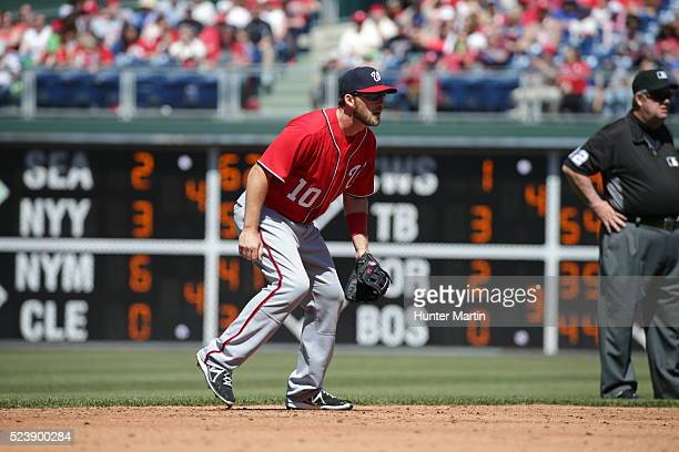 Stephen Drew of the Washington Nationals during a game against the Philadelphia Phillies at Citizens Bank Park on April 17 2016 in Philadelphia...
