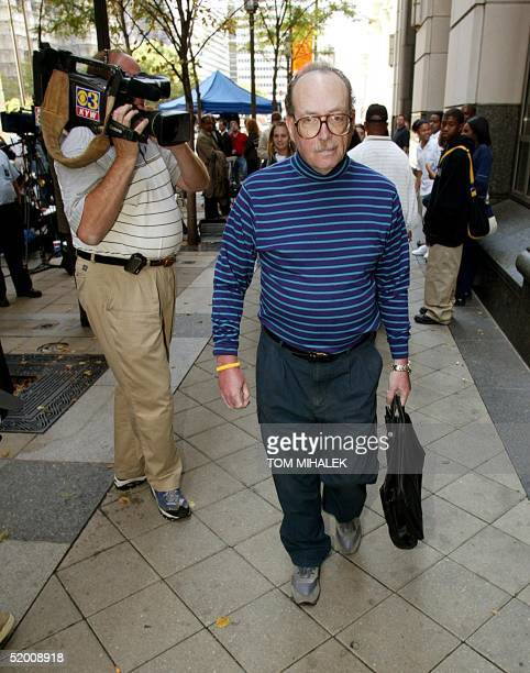Stephen Einhorn the brother of accused murderer Ira Einhorn leaves the Criminal Justice Center in Philadelphia 30 September where Ira Einhorn is...
