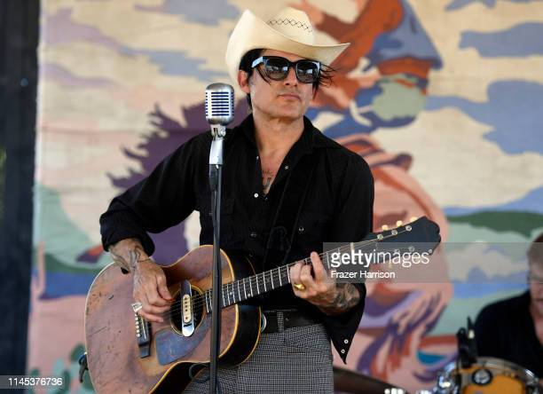 Stephen El Rey performs onstage during the 2019 Stagecoach Festival at Empire Polo Field on April 26 2019 in Indio California