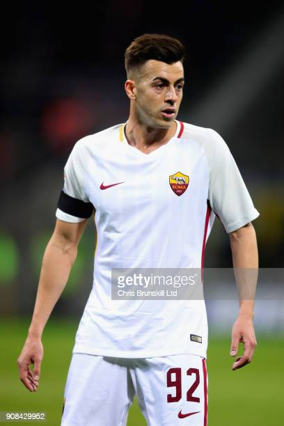 Stephen El Shaarawy of AS Roma looks on during the Serie A match between FC Internazionale and AS Roma at Stadio Giuseppe Meazza on January 21 2018...