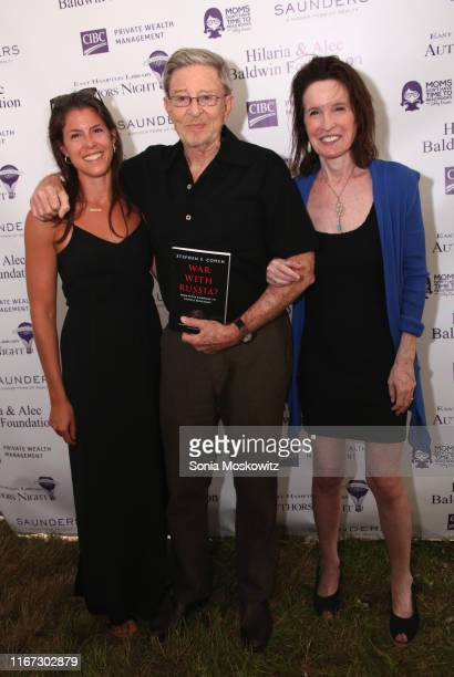 Stephen F Cohen and Katrina Vanden Heuvel at the East Hampton Library's 15th Annual Authors Night Benefit on August 10 2019 in Amagansett New York