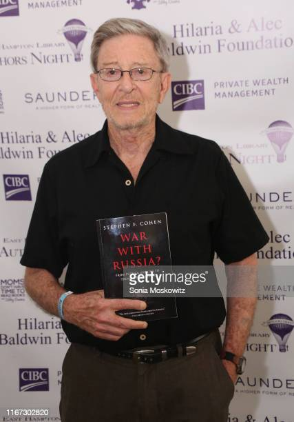 Stephen F Cohen at the East Hampton Library's 15th Annual Authors Night Benefit on August 10 2019 in Amagansett New York