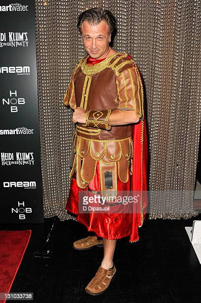 Stephen Fanuka attends Heidi Klum's 12th annual Halloween party at the PHD Rooftop Lounge at Dream Downtown on October 31 2011 in New York City