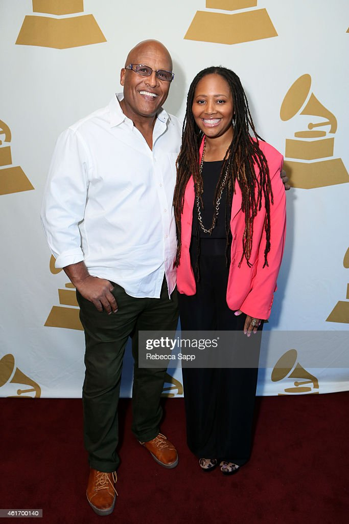 Stephen Ferrone and 57th Annual GRAMMY Awards nominees Malcolm-Jamal Warner and Lalah Hathaway attend Los Angeles GRAMMY Nominee Celebration - LA Chapter on January 17, 2015 in West Hollywood, California.