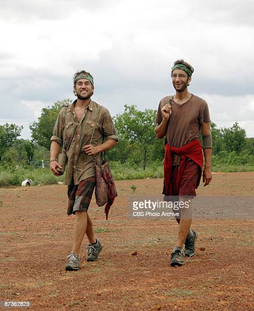 Stephen Fishbach and John 'JT' Thomas Jr celebrate JT's reward during the thirteenth episode of SURVIVOR TOCANTINS THE BRAZILIAN HIGHLANDS Thursday...