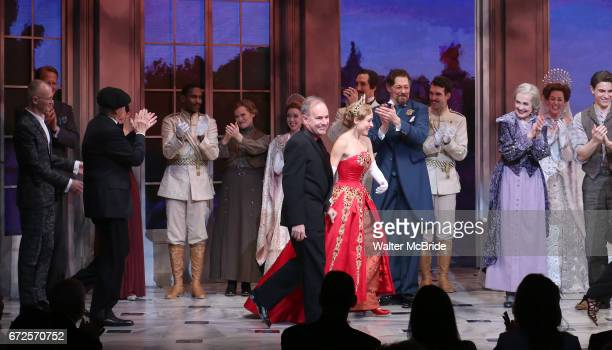 Stephen Flaherty Christy Altomare with the cast and creative team during Broadway Opening Night Performance Curtain Call bows for 'Anastasia' at the...