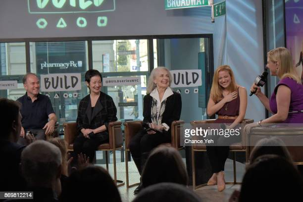 Stephen Flaherty Lynn Ahrens Mary Beth Peil and Christy Altomare attend Build series to dicsuss 'Anastasia' at Build Studio on November 3 2017 in New...