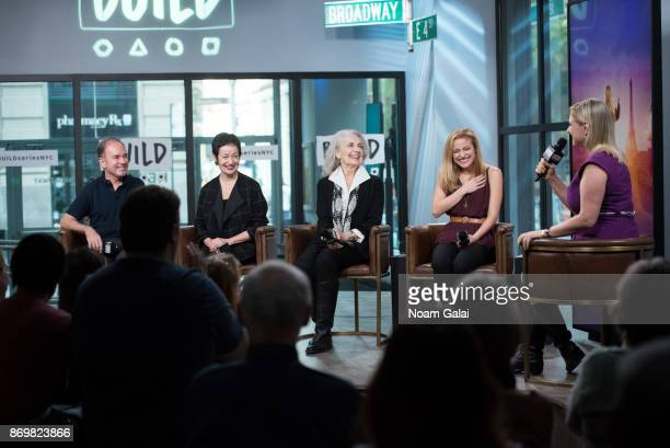 Stephen Flaherty Lynn Ahrens Mary Beth Peil Christy Altomare and Laura Heywood visit Build series to discuss 'Anastasia' at Build Studio on November...