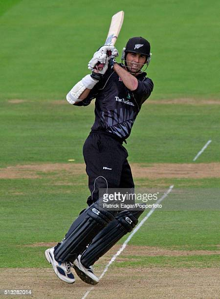 Stephen Fleming batting for New Zealand during his innings of 67 runs in the NatWest Series Final between New Zealand and West Indies at Lord's,...