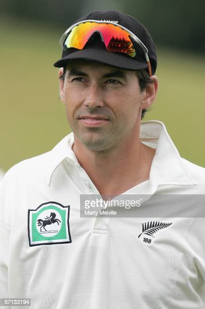 Stephen Fleming, captain of the New Zealand BlackCaps, walks from the field after the BlackCaps won the second Test match by 10 wickets on day four...