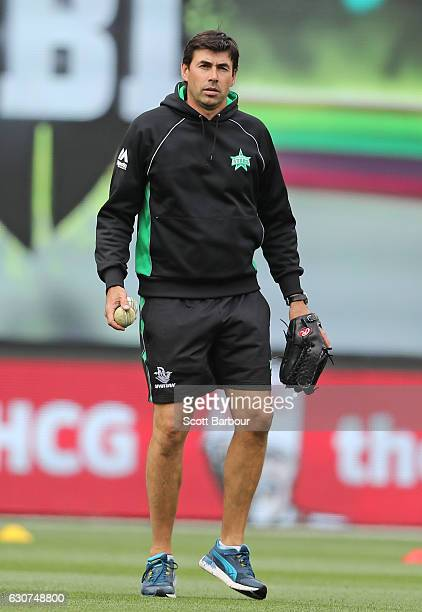 Stephen Fleming, Head Coach of the Stars during the Big Bash League match between the Melbourne Stars and Melbourne Renegades at Melbourne Cricket...