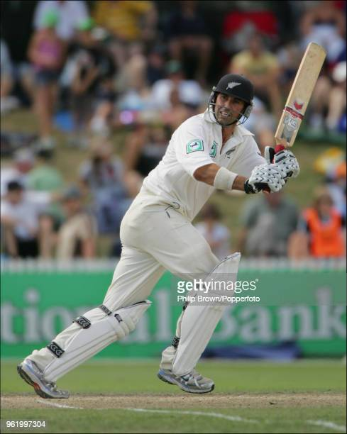 Stephen Fleming of New Zealand batting during his innings of 66 runs in the 1st Test match between New Zealand and England at Seddon Park, Hamilton,...