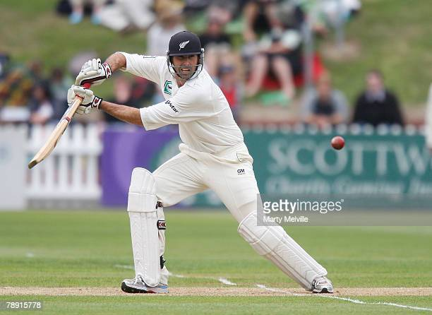 Stephen Fleming of the Blackcaps in action during day two of the second test match between New Zealand and Bangladesh at the Basin Reserve January...