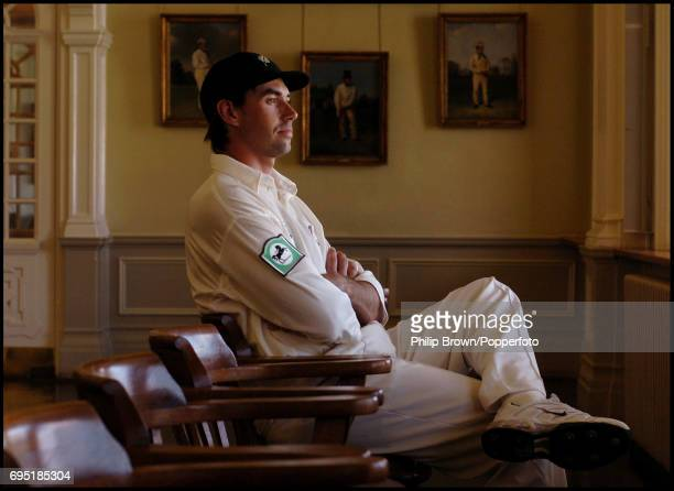 Stephen Fleming, the New Zealand captain, sitting in the Long Room at Lord's Cricket Ground in London on the eve of the 1st Test Match between...