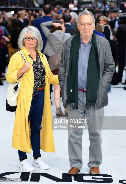 Stephen Frears and wife Anne Rothenstein arriving for the King of Thieves World Premiere held at Vue West End Leicester Square London