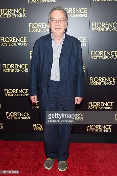 Stephen Frears attends the Florence Foster Jenkins New York premiere at AMC Loews Lincoln Square 13 theater on August 9 2016 in New York City