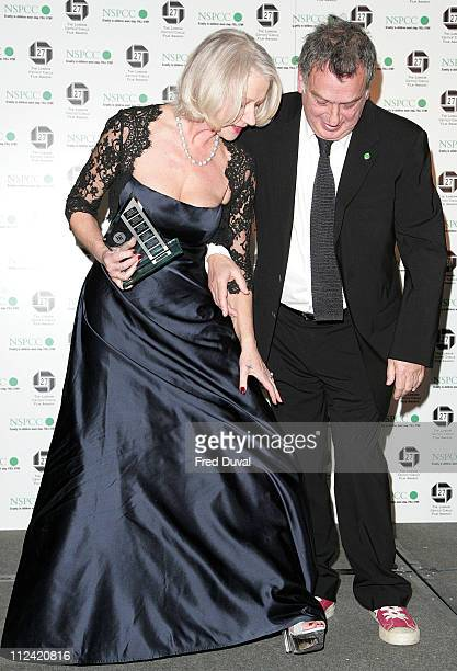 Stephen Frears, British Director of the Year for The Queen and Helen Mirren who won British Actress of the Year