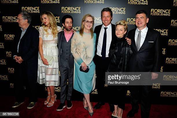 Stephen Frears, Nina Arianda, Simon Helberg, Meryl Streep, Hugh Grant, Tracey Seaward and Nicholas Martin attend Paramount Pictures Presents the New...