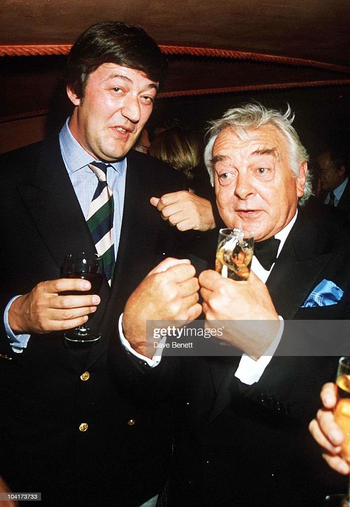 Stephen Fry & David Hemmings, 'By Jeeves' Muisical1st Night Party At The, Duke Of York Theatre, London