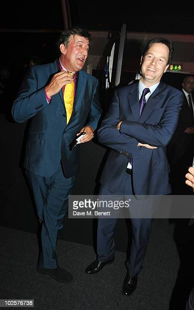 Stephen Fry and Deputy Prime Minister Nick Clegg celebrated in style at The Old Vic 192 Summer Party supported by W Doha at Battersea Power station...