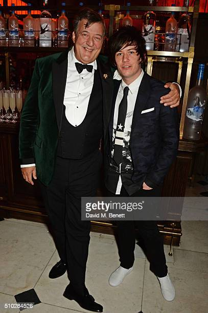 Stephen Fry and Elliott Spencer attend The Weinstein Company Entertainment Film Distributors Studiocanal 2016 BAFTA After Party in partnership with...