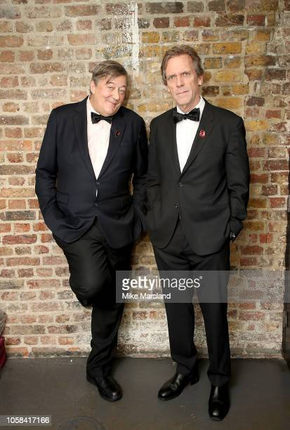 Stephen Fry and Hugh Laurie at the SeriousFun London Gala 2018 at The Roundhouse on November 6 2018 in London England