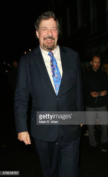 Stephen Fry at Ronnie Scott's for a Prince live show on February 17, 2014 in London, England.