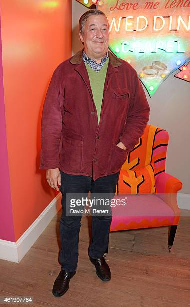Stephen Fry attends a special screening of 'The Imitation Game' followed by a QA which he hosted at The Ham Yard Hotel on January 21 2015 in London...