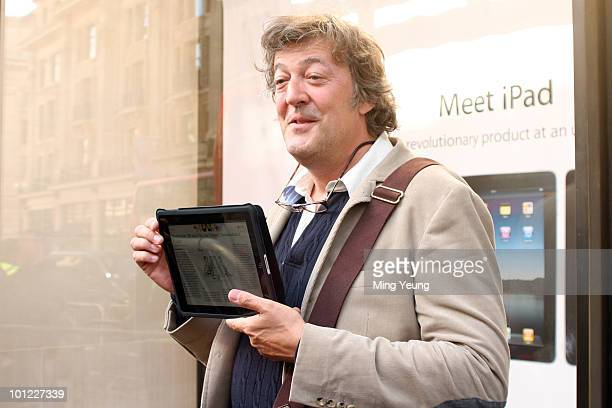 Stephen Fry attends photocall to launch the Apple iPad on May 28 2010 in London England