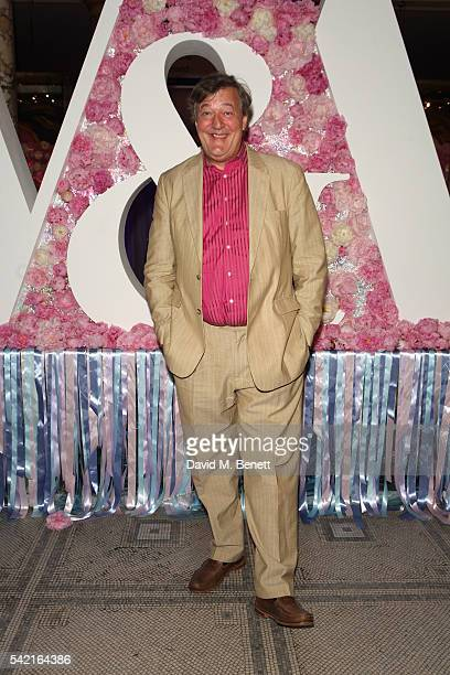 Stephen Fry attends the 2016 VA Summer Party In Partnership with Harrods at The VA on June 22 2016 in London England