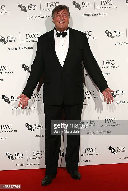 Stephen Fry attends the IWC Gala dinner in honour of the BFI at Battersea Evolution on October 7 2014 in London England