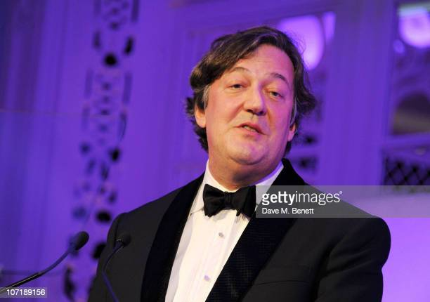 Stephen Fry attends the London Evening Standard Theatre Awards ceremony at The Savoy Hotel on November 28 2010 in London England