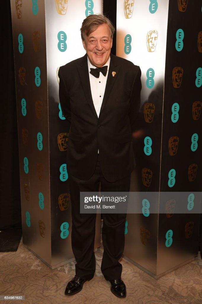 Stephen Fry attends the official After Party Dinner for the EE British Academy Film Awards at Grosvenor House on February 12, 2017 in London, England.