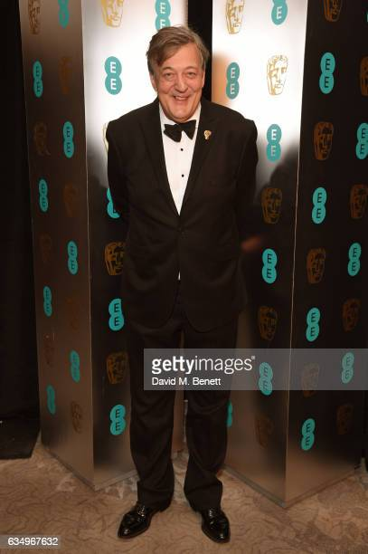 Stephen Fry attends the official After Party Dinner for the EE British Academy Film Awards at Grosvenor House on February 12 2017 in London England