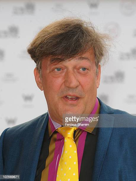 Stephen Fry attends the Summer fundraising party for The Old Vic Theatre at Battersea Power station on July 1, 2010 in London, England.