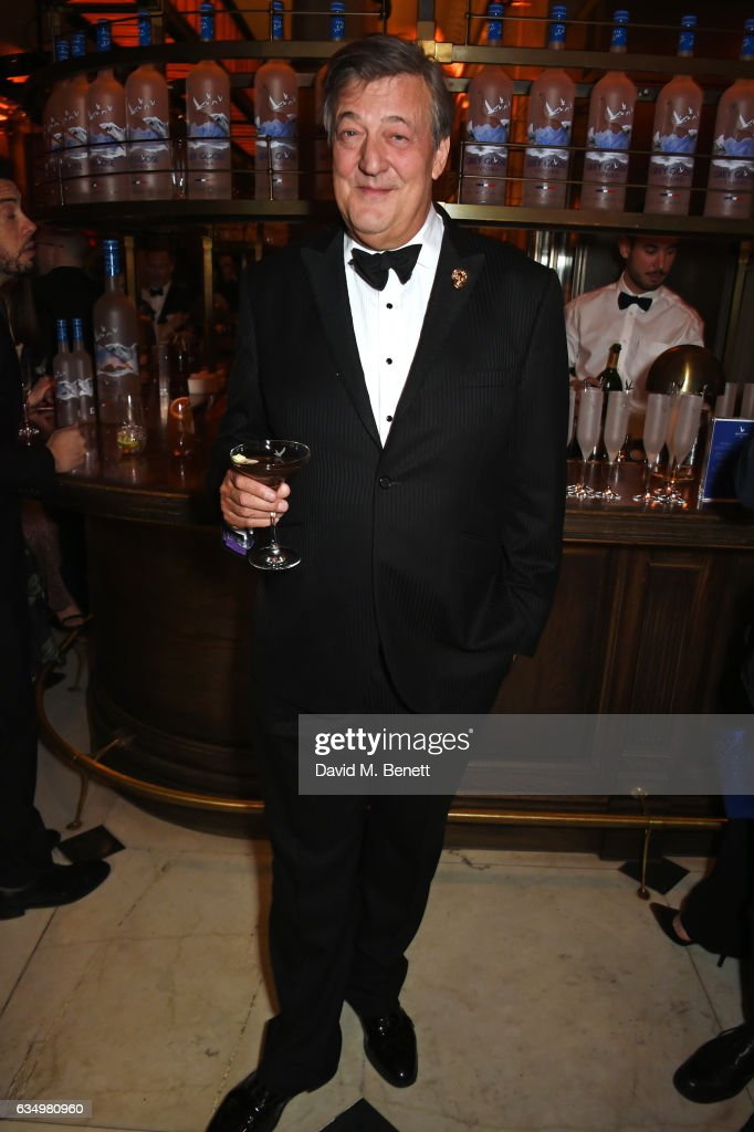 Stephen Fry attends The Weinstein Company, Entertainment Film Distributors, Studiocanal 2017 BAFTA After Party in partnership with Ben Sherman, Kat Florence & Grey Goose at Rosewood London on February 12, 2017 in London, England.