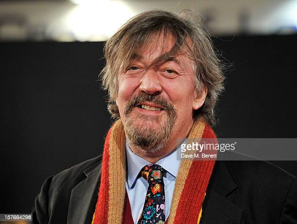 Stephen Fry attends the World Premiere of 'Les Miserables' at Odeon Leicester Square on December 5, 2012 in London, England.