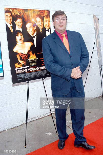 "Stephen Fry during ""Bright Young Things"" Premiere at United Artist Theaters in East Hampton, New York, United States."
