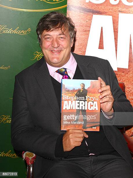 Stephen Fry launches his new book `Stephen Fry in America' at Hatchards on October 1, 2008 in London, England.