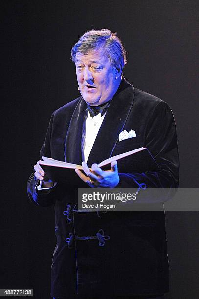 Stephen Fry performs during the Gala Charity of Richard O'Brien's Rocky Horror Show in Aide of Amnesty International which was broadcast live to...