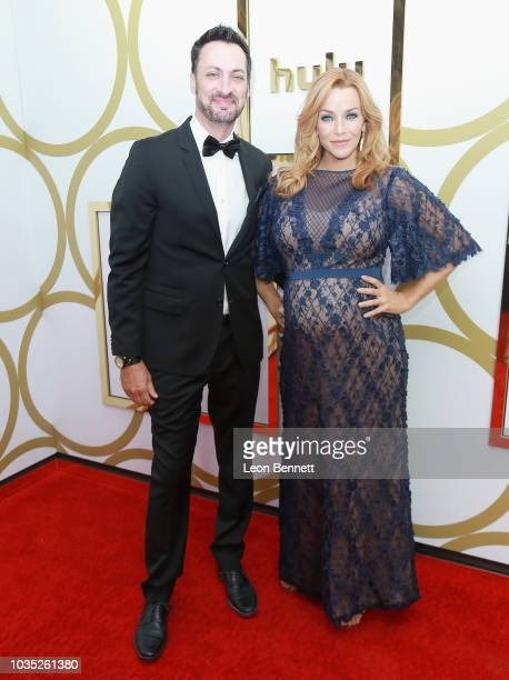 Stephen Full and Annie Wersching attends Hulu's 2018 Emmy Party at Nomad Hotel Los Angeles on September 17 2018 in Los Angeles California