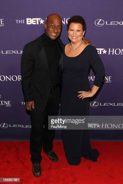 Stephen G Hill and Debra Lee attend BET Honors 2013 Red Carpet Presented By Pantene at Warner Theatre on January 12 2013 in Washington DC