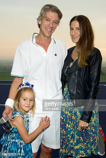 Stephen Gaghan along with Minnie Mortimer and daughter Tuesday attend the MAK Center for Art Architecture Benefit on October 26 2013 in Beverly Hills...