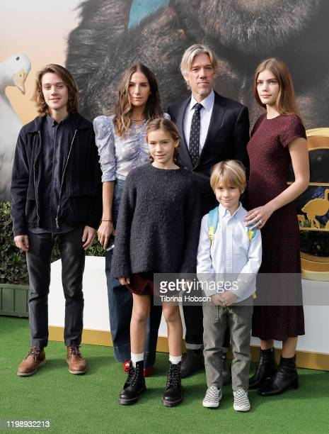Stephen Gaghan and family attend the Premiere of Universal Pictures' Dolittle at Regency Village Theatre on January 11 2020 in Westwood California