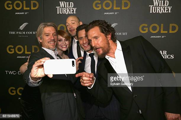 Stephen Gaghan Bryce Dallas Howard Corey Stoll Edgar Ramirez and Matthew McConaughey attends TWCDimension with Popular Mechanics The Palm Court Wild...