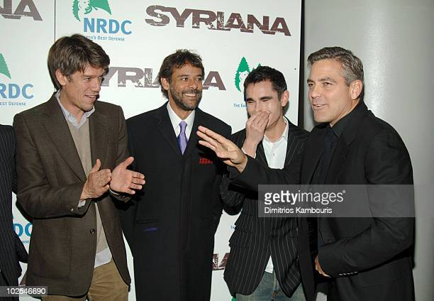 Stephen Gaghan director Alexander Siddig Max Minghella and George Clooney