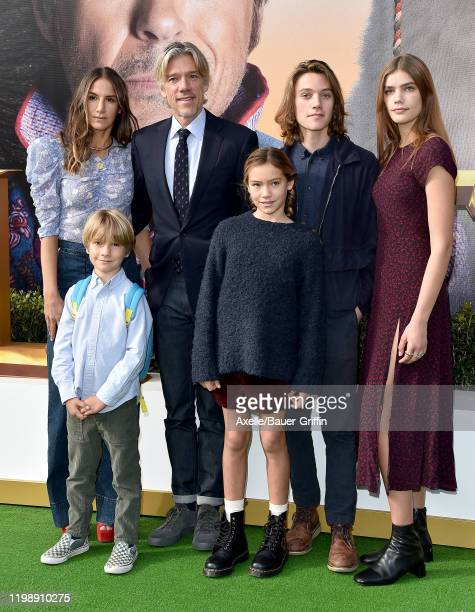 Stephen Gaghan Minnie Mortimer and family attend the premiere of Universal Pictures' Dolittle at Regency Village Theatre on January 11 2020 in...