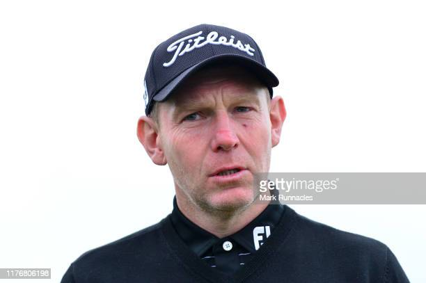 Stephen Gallacher of Scotland during previews for the Alfred Dunhill Links Championship at The Old Course on September 24 2019 in St Andrews United...
