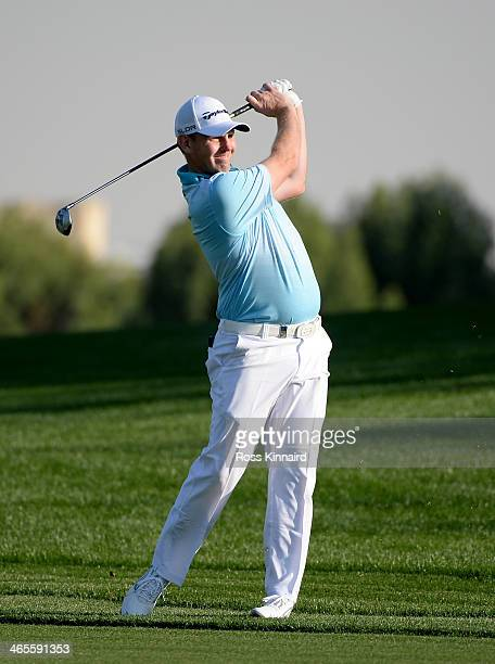 Stephen Gallacher of Scotland during the Champions Challenge prior to the Omega Dubai Desert Classic on the Majlis Course on January 28 2014 in Dubai...